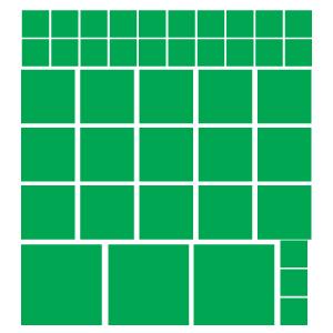 Quadrados Verdes